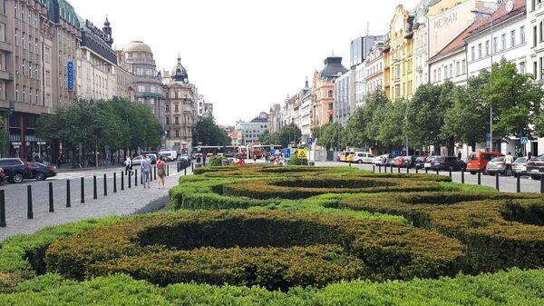 Václavské náměstí v Praze v době koronaviru - Sputnik Česká republika