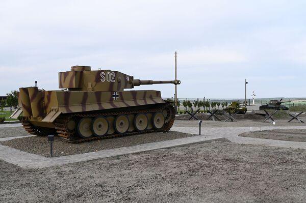 Německý tank Tiger v areálu vojensko-historického muzejního komplexu Sambecké výšiny v Rostovské oblasti. - Sputnik Česká republika
