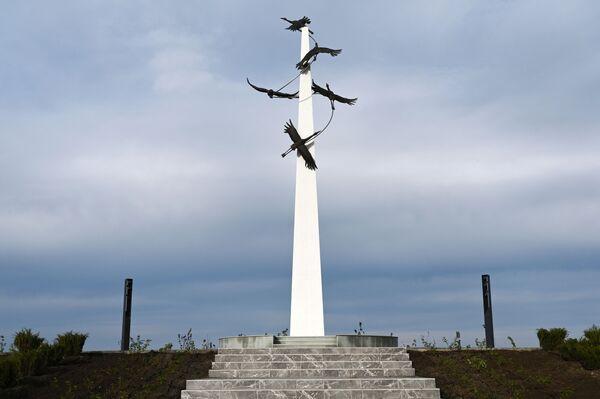 Stéla v areálu vojensko-historického muzejního komplexu Sambecké výšiny v Rostovské oblasti. - Sputnik Česká republika