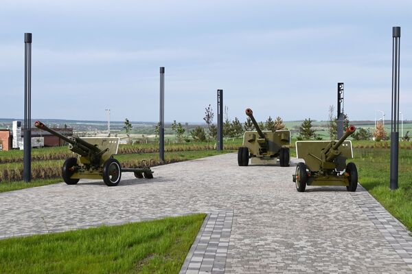 Děla v areálu vojensko-historického muzejního komplexu Sambecké výšiny v Rostovské oblasti. - Sputnik Česká republika