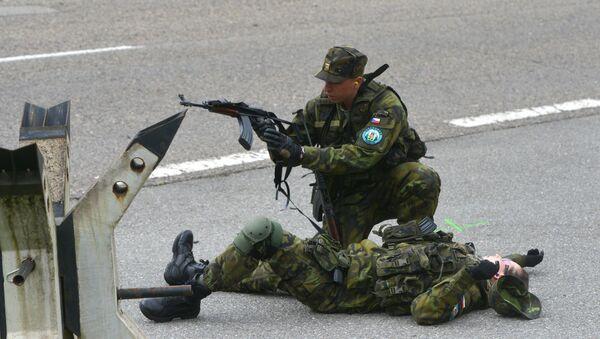 Čeští vojáci během protiteroristických cvičení - Sputnik Česká republika