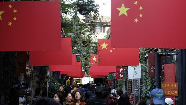 Čínské vlajky v Šanghaji - Sputnik Česká republika