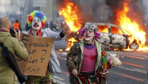 Protestní akce ve Frankfurtu - Sputnik Česká republika