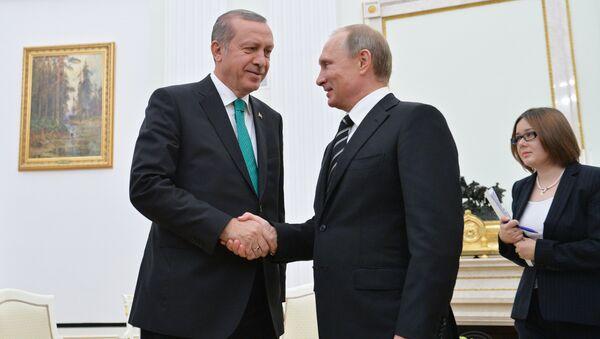 Recep Tayyip Erdoğan a Vladimir Putin - Sputnik Česká republika