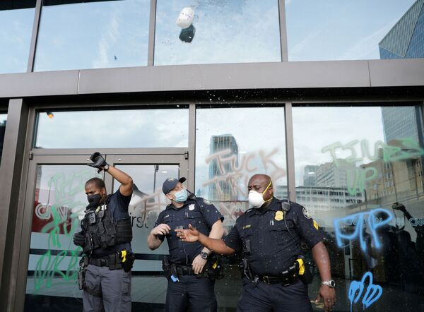 Policie před kanceláří CNN v Atlantě. - Sputnik Česká republika