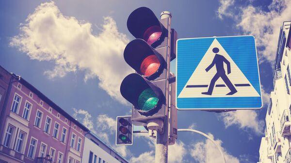 Semafor ve městě. Ilustrační foto - Sputnik Česká republika
