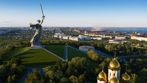 Monument Matka vlast volá. Jak vypadá symbol vítězství a největší socha v Evropě po rekonstrukci? - Sputnik Česká republika