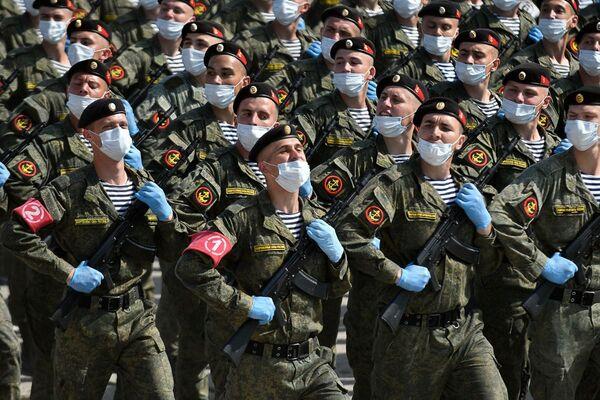 Vojáci během zkoušky přehlídky k 75. výročí vítězství. Alabino, Moskevská oblast - Sputnik Česká republika