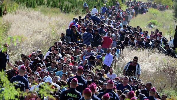 Migranti v Maďarsku - Sputnik Česká republika