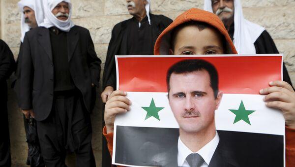 Portrét syrského prezidenta Bašára Asada - Sputnik Česká republika