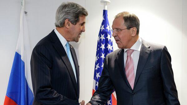Ministr zahraničí USA John Kerry a ministr zahraničí RF Sergej Lavrov - Sputnik Česká republika