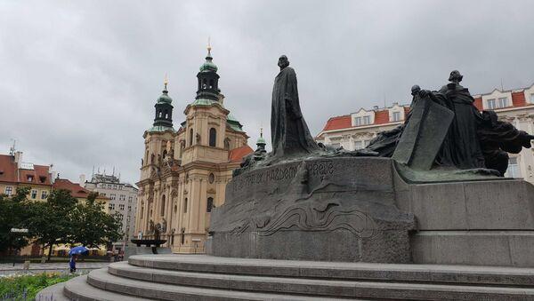 Pomník mistra Jana Husa, Staroměstské náměstí, Praha - Sputnik Česká republika
