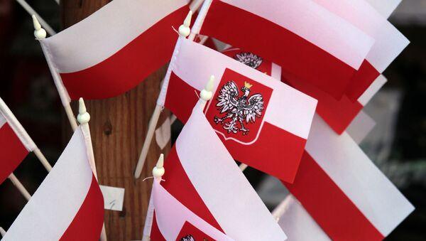 Polské vlaječky. Ilustrační foto - Sputnik Česká republika