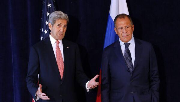 John Kerry a Sergej Lavrov v New Yorku - Sputnik Česká republika