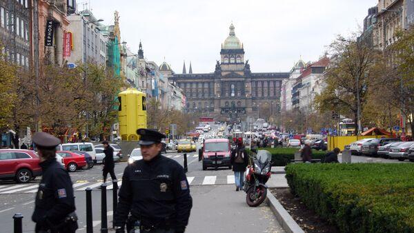 Policisté na Václavském náměstí - Sputnik Česká republika