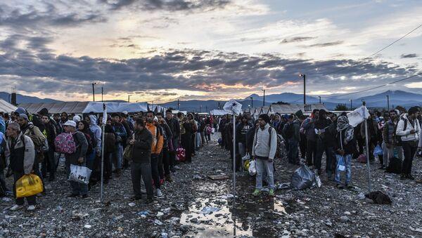 Migranti v Makedonii - Sputnik Česká republika