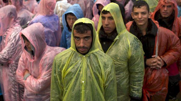 Uprchlíci na srbsko-chorvatské hranici - Sputnik Česká republika
