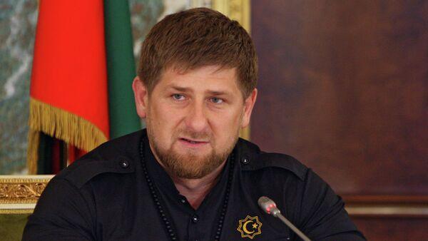 Hlava Čečenska Ramzan Kadyrov - Sputnik Česká republika