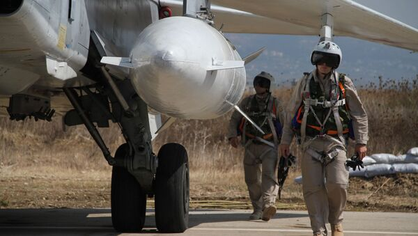 Ruští letci v Sýrii - Sputnik Česká republika