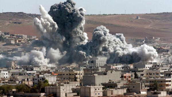 Ostřelování města Kobani - Sputnik Česká republika
