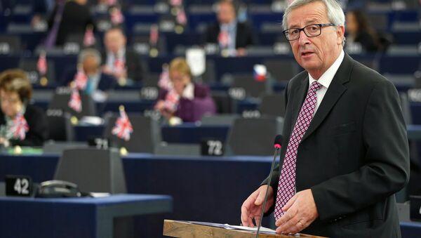 Předseda Evropské komise Jean-Claude Juncker během zasedání Evropského parlamentu - Sputnik Česká republika