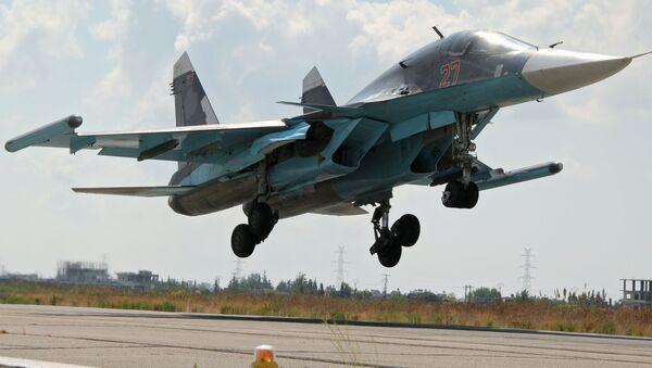 Ruská letadla na letišti v Lázikíji - Sputnik Česká republika
