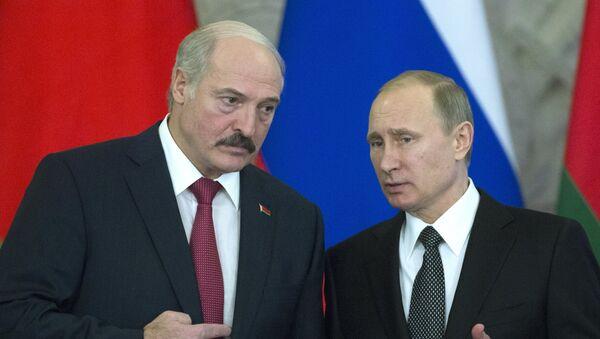 Běloruský prezident Alexander Lukašenko a ruský prezident Vladimir Putin - Sputnik Česká republika
