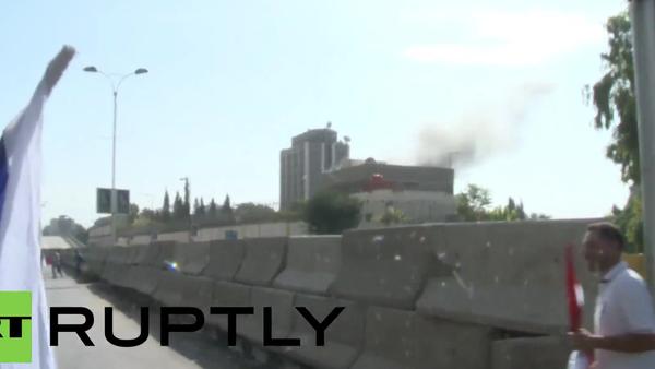 Ostřelování ruského velvyslanectví v Damašku bylo zachyceno na videu - Sputnik Česká republika