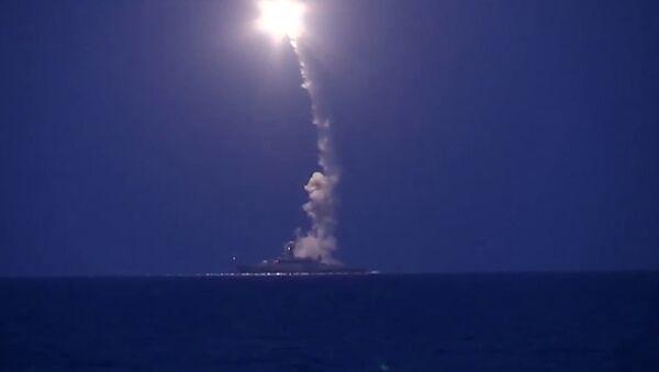 Lodě Kaspické flotily zasadily úder pozicím IS v Sýrii - Sputnik Česká republika