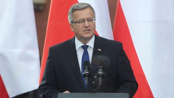 Polský prezident Bronisław Komorowski - Sputnik Česká republika