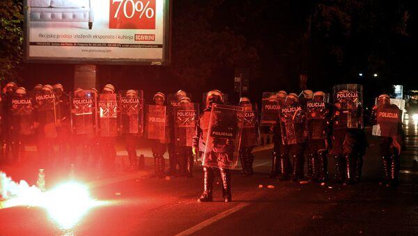 Střety mezi demonstranty a policií v Černé Hoře - Sputnik Česká republika