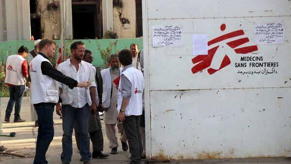 Pracovníci MSF - Sputnik Česká republika