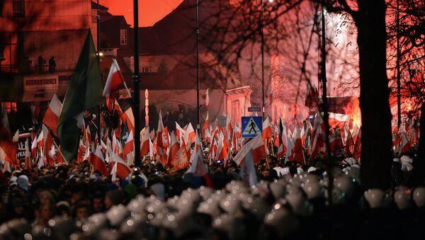 Demonstrace neonacistů ve Varšavě. Ilustrační foto - Sputnik Česká republika