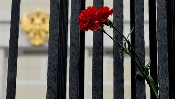 Květiny na památku obětí havárie A321 - Sputnik Česká republika