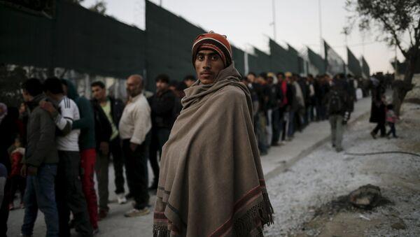 Migranti v Řecku - Sputnik Česká republika