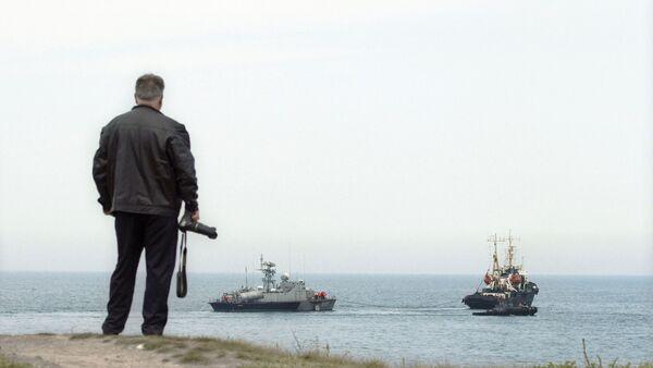 Ukrajinský raketový člun Priluki a tanker Fastov - Sputnik Česká republika