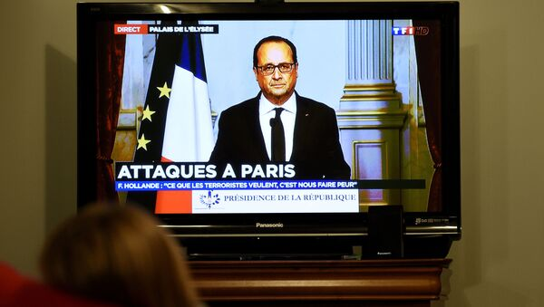 Provolání prezidenta Francie Francoise Hollandea k národu po řadě teroristických činů v Paříži - Sputnik Česká republika