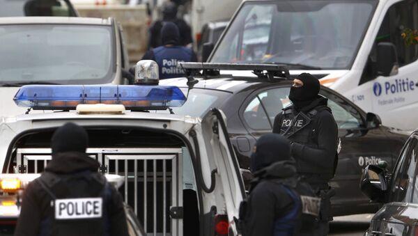 Belgická policie ve čtvrti Molenbeek - Sputnik Česká republika