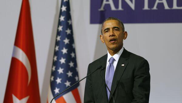 Barack Obama na summitu v Turecku - Sputnik Česká republika