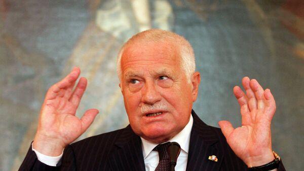 Bývalý český prezident Václav Klaus. Ilustrační foto - Sputnik Česká republika