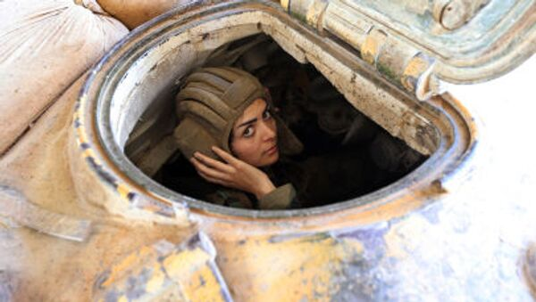 Ženský prapor v Sýrii - Sputnik Česká republika