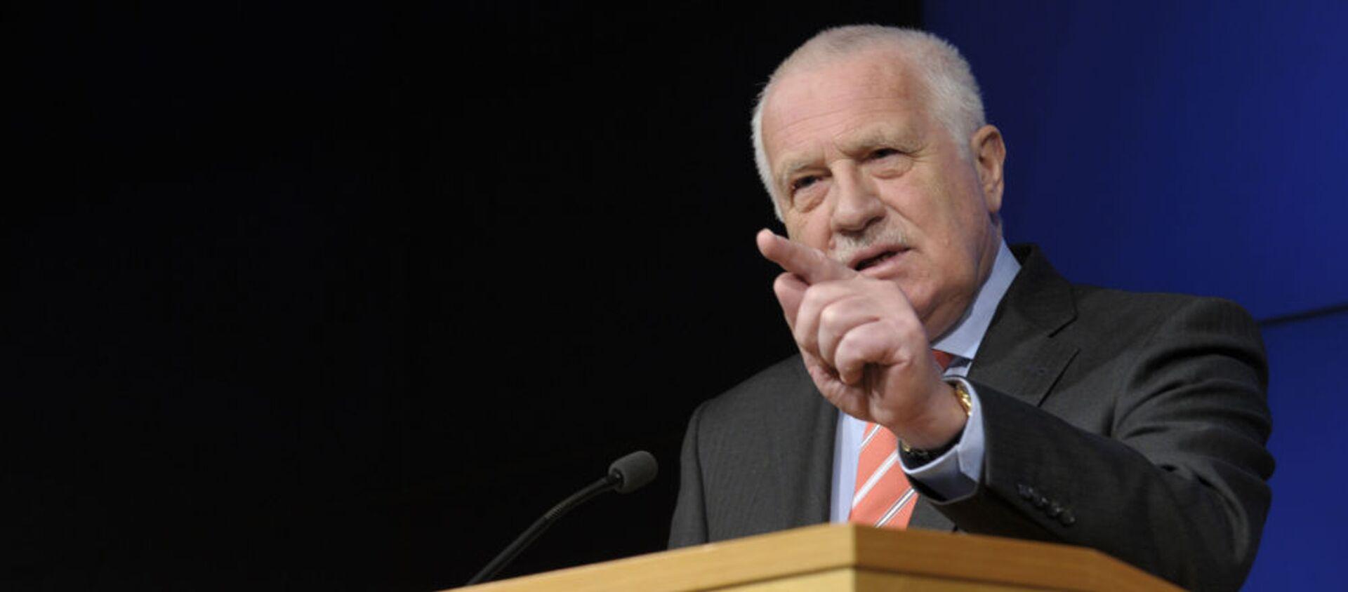 Bývalý český prezident Václav Klaus - Sputnik Česká republika, 1920, 03.02.2021