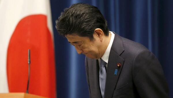 Japonský premiér Šinzó Abe - Sputnik Česká republika