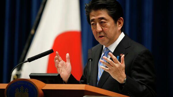 Ministerský předseda Japonska Šinzó Abe - Sputnik Česká republika