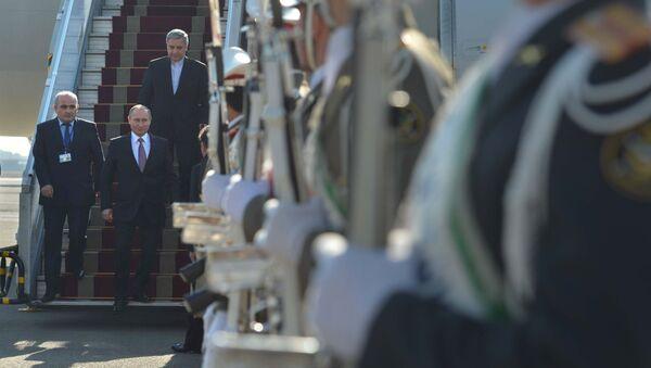 Ruský prezident Vladimir Putin v Teheránu - Sputnik Česká republika