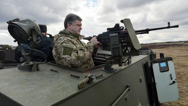 Ukrajinský prezident Petro Porošenko. Archivní foto - Sputnik Česká republika