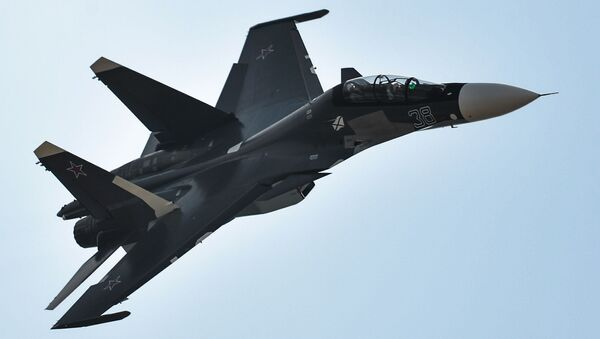 Víceúčelová dvoumístná stíhačka Su-30SM se považuje za jednu z nejlepších stíhaček na světě - Sputnik Česká republika