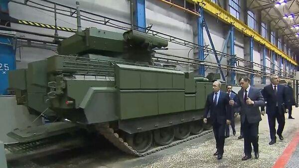Putin prohlédl BMP na podvozku Armata - Sputnik Česká republika