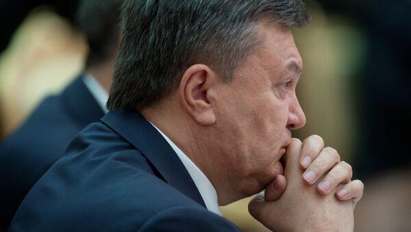 Svržený ukrajinský prezident Viktor Janukovič - Sputnik Česká republika