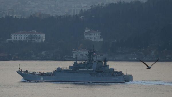 Ruská vojenská loď Cezar Kunikov - Sputnik Česká republika